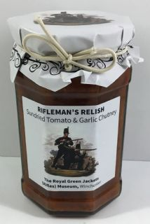 Rifleman's Relish-Sundried Tomato and Garlic Chutney, 280g